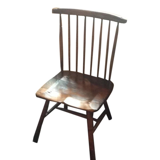 Irish Primitive Windsor Side Chairs - Set of 6 For Sale