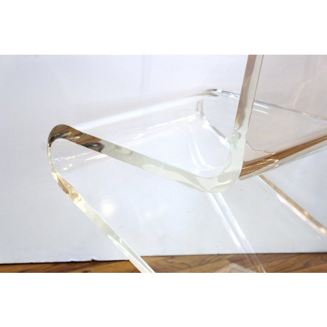Modern Lucite 'Z' Cantilever Chair For Sale - Image 9 of 11