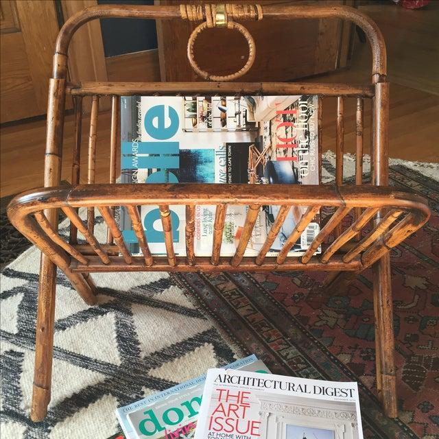 Boho Chic Rattan Magazine Rack - Image 4 of 5
