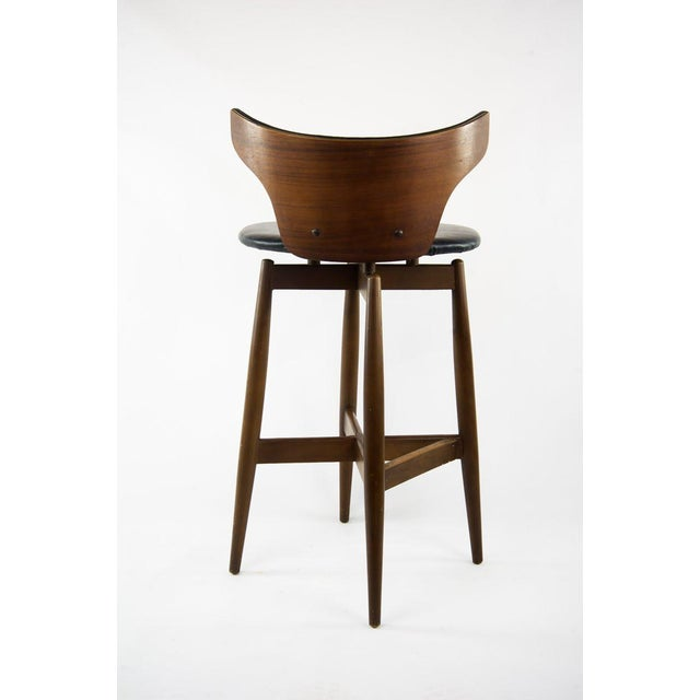 Seymour James Wiener for Kodawood Mid-Century Vinyl Swivel Barstools - A Pair For Sale - Image 12 of 13