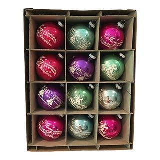 American Stencil Balls, Orig Box S/12 #2 For Sale
