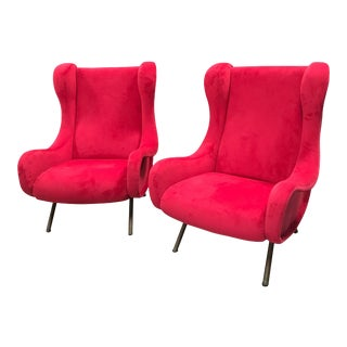 Mid-Century Marco Zanuso Senior Armchairs for Arflex - a Pair For Sale