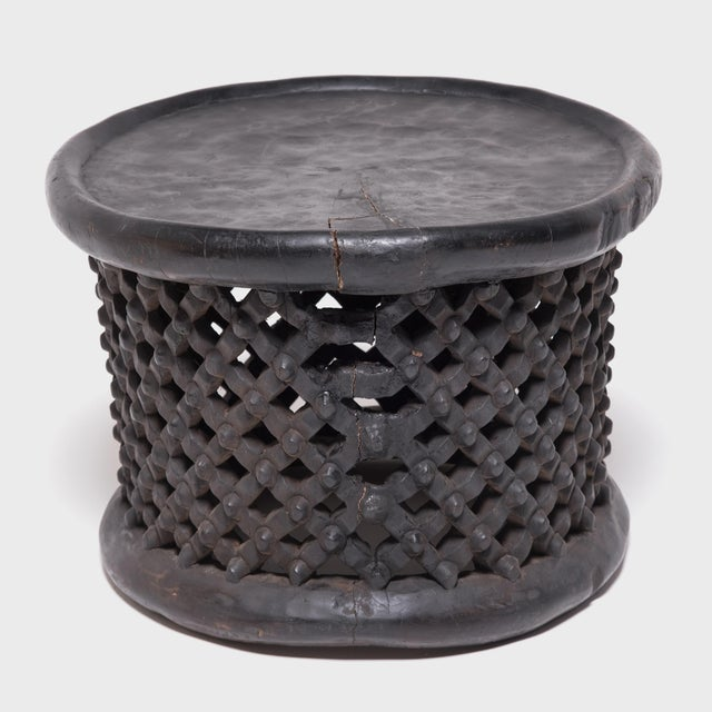 African Bamileke Earth Spider Stool For Sale - Image 3 of 7