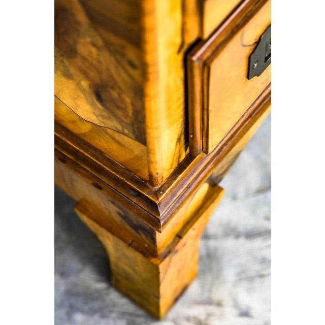 Yellow Mid-Century Modern Olive Wood Chest of Drawers For Sale - Image 8 of 9