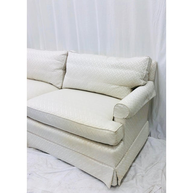 Vintage Rolled Arm Love Seat Sofa