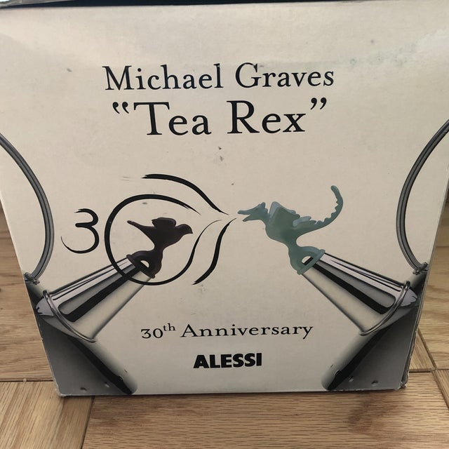 Silver Michael Graves for Alessi Tea Rex 30th Anniversary Tea Kettle For Sale - Image 8 of 9