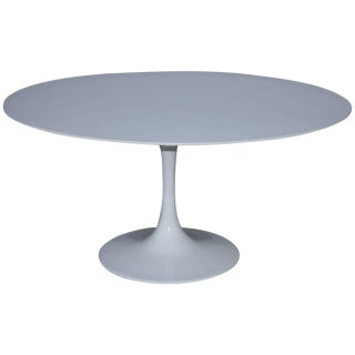 Contemporary White Tulip Style Table For Sale