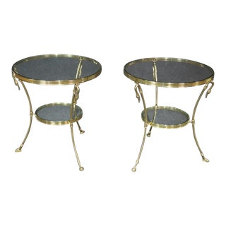 20th Century Regency Style Glass Top Gueridons - a Pair For Sale