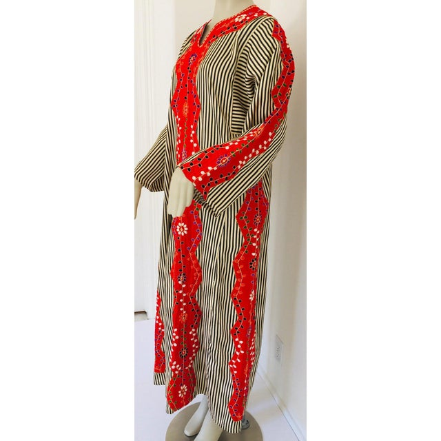 Vintage Middle Eastern Ethnic Caftan, Kaftan Maxi Dress For Sale - Image 11 of 13