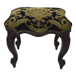 19th-Century French Fancy Footstool For Sale
