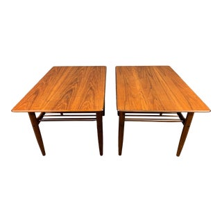 Vintage Danish Mid Century Modern Teak End Tables by Kofod Larsen for G Plan - a Pair For Sale