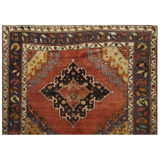 Islamic Vintage Turkish Oushak Rug - 5.2 x 13.5 For Sale - Image 3 of 3