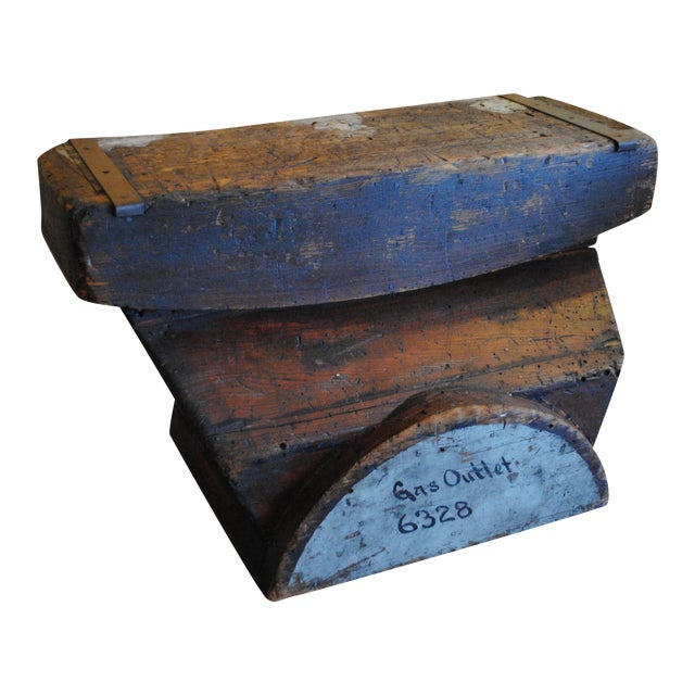 Industrial Foundry Mold Side Table - Image 1 of 8