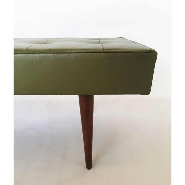 1950s Mid-Century Modern Bench by Milo Baughman for Thayer Coggin For Sale - Image 5 of 8