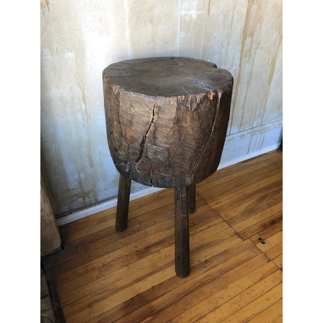 Early 20th Century Rustic Tuscan Tree Trunk Butcher Block For Sale - Image 5 of 11