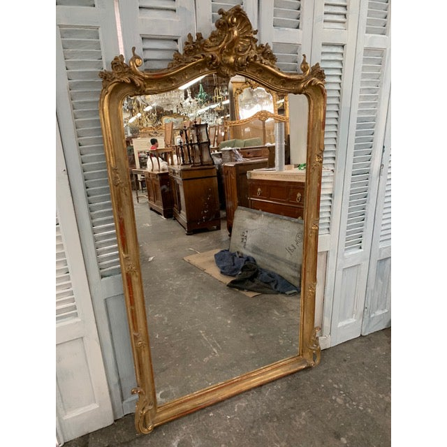 Mid 18th Century 18th Century Original Grand Louis Philippe Style Mirror For Sale - Image 5 of 10