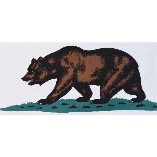 Large Vintage California Republic State Bear Flag For Sale - Image 5 of 10