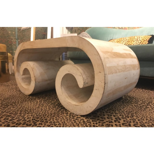 Mid-Century Modern Scroll Coffee Table - Image 3 of 5