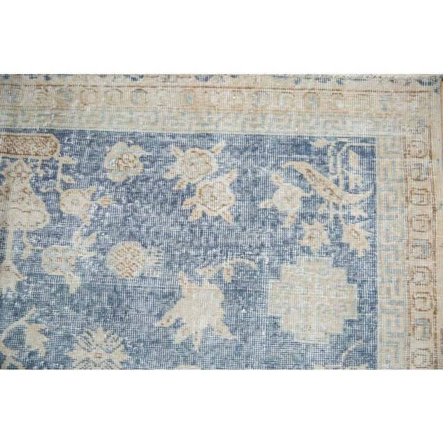"1960s Vintage Distressed Fragment Sparta Carpet - 5'7"" X 9'1"" For Sale - Image 5 of 11"