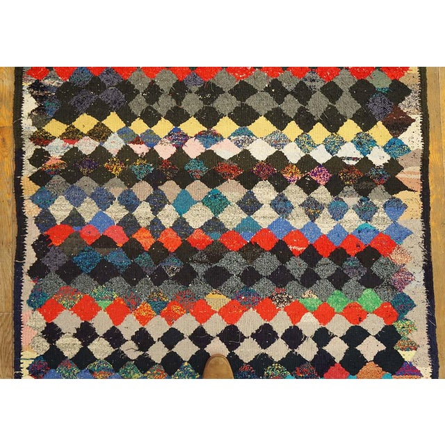 Vintage Persian Handmade Kilim Rug - 4′8″ × 9′3″ For Sale - Image 4 of 5