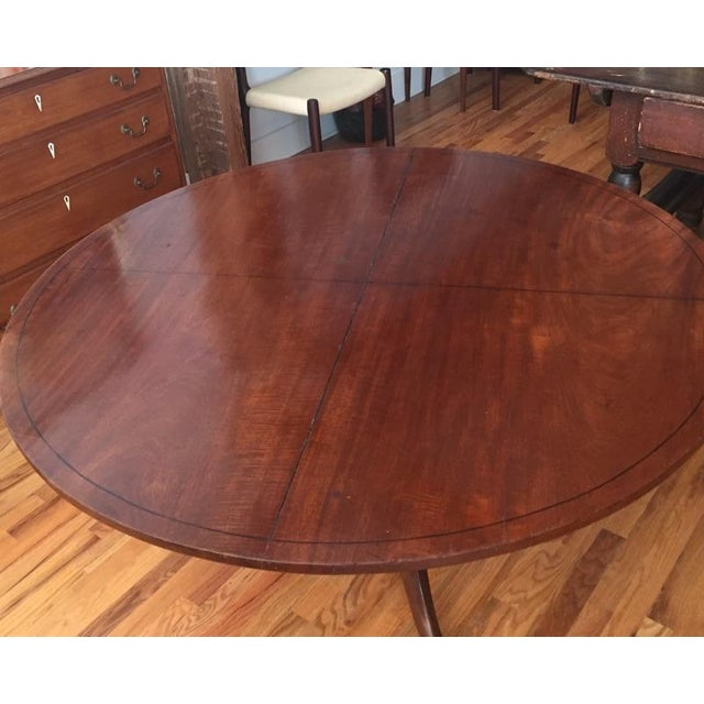 Sheraton 18th Century Victorian Mahogany Tilt Top Game Table For Sale - Image 4 of 7