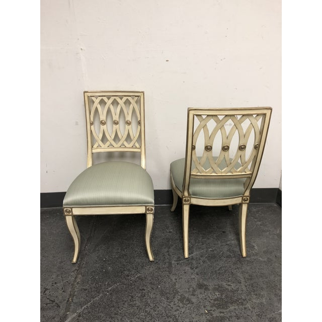 Horchow Maitland-Smith Pillar Chairs - a Pair For Sale In San Francisco - Image 6 of 13
