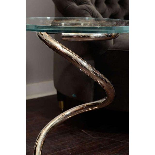 Glass Custom Spring Table For Sale - Image 7 of 8