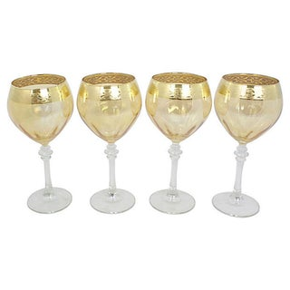 Gold-Rimmed Wine Glasses, S/4 Preview
