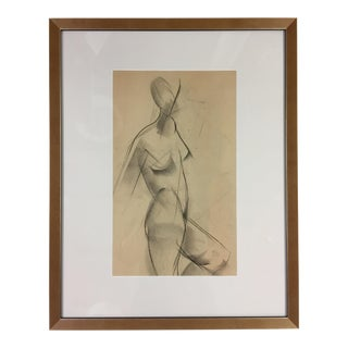 1940s Abstract Figurative Female Nude by Rudolf Hess