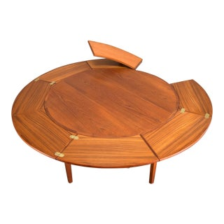 Danish Teak 'Lotus' or 'Flip Flap' Expandable Dining Table by Dyrlund
