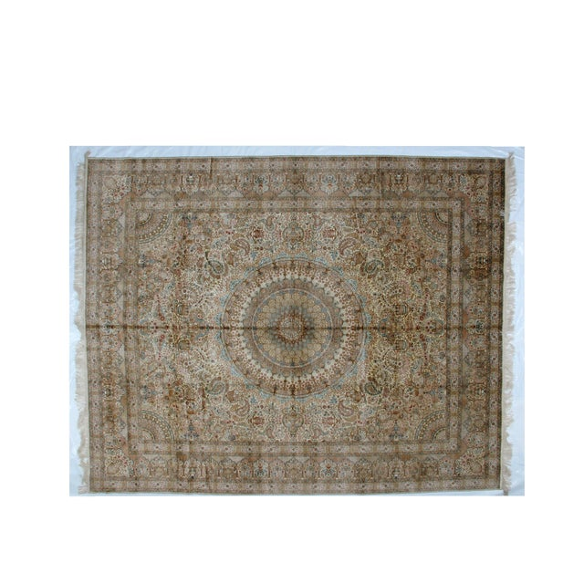 Leon Banilivi Pure Silk Tabriz Carpet - 8' x 10' For Sale - Image 10 of 10