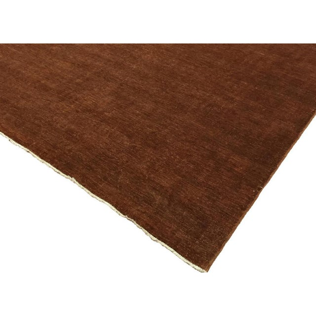 """Over Dyed Color Reform Cordelia Brown Wool Rug - 9'0"""" x 11'10"""" For Sale In New York - Image 6 of 8"""