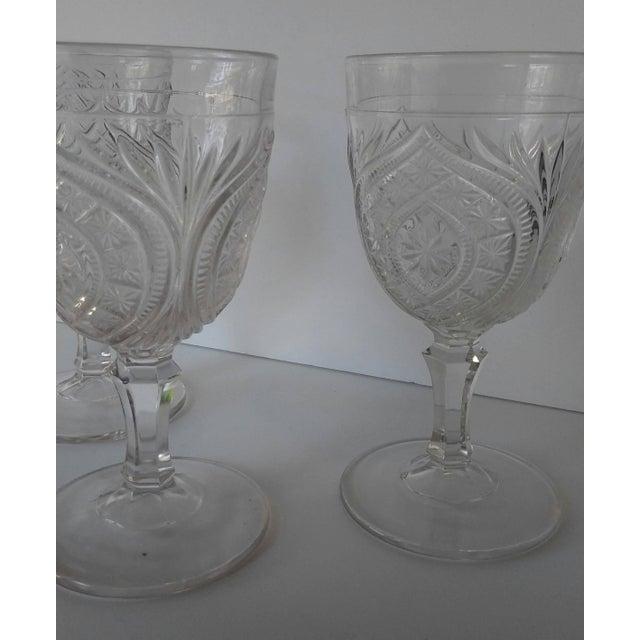 Traditional Antique Eapg Civil War Era Water Goblet - Set of 3 For Sale - Image 3 of 4