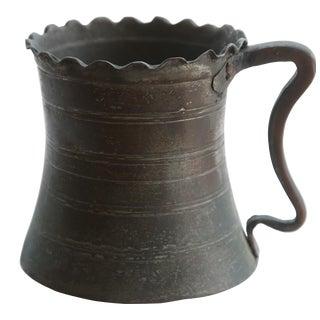 Persian Copper Mug For Sale