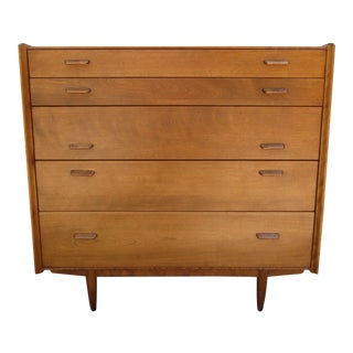 Conant Ball Five Drawer Maple Dresser -Russel Wright Design For Sale