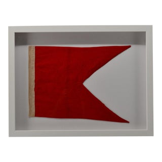 "Real Cotton Framed Signal Flag ""B"" For Sale"