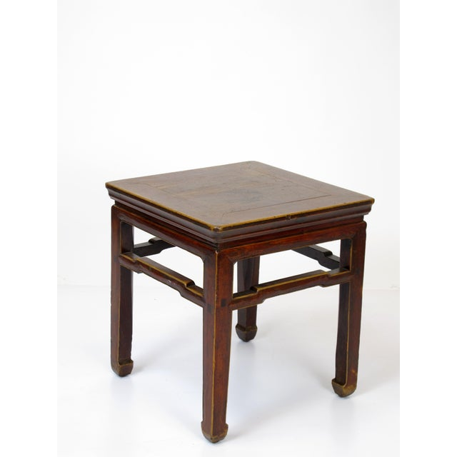 1900s Vintage Square Stools- a Pair For Sale - Image 4 of 6