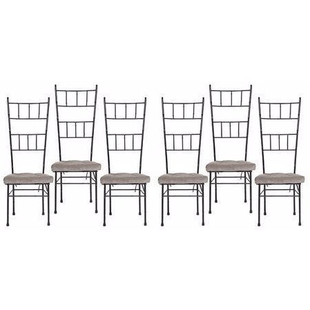 Mid-Century Bamboo Dining Chairs - Set of 6 - Image 1 of 6