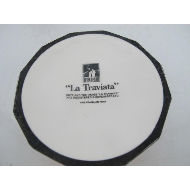 Ceramic House of Erte Franklin Mint Art Deco Opera Series La Traviata Music Box For Sale - Image 7 of 8