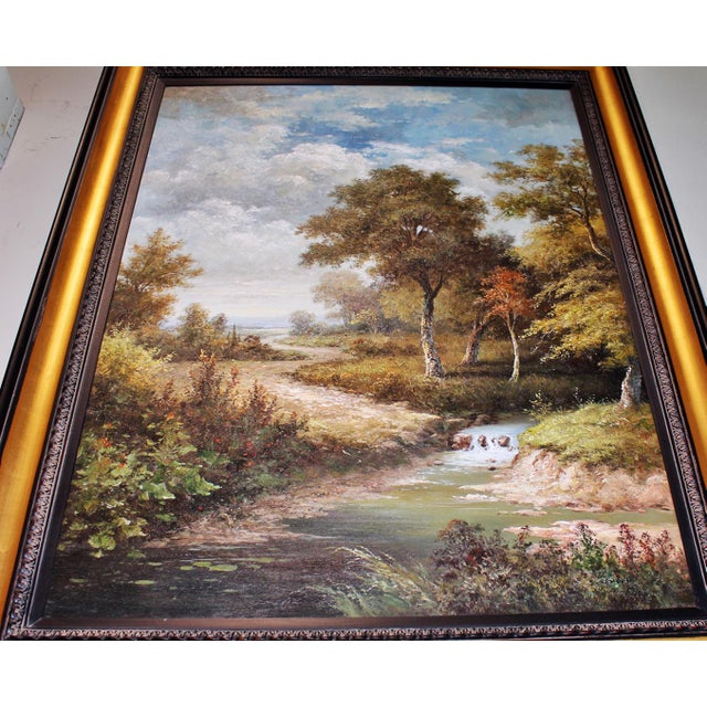 Large Country Stream Painting For Sale - Image 5 of 10