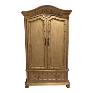 Coastal Transitional Armoire For Sale