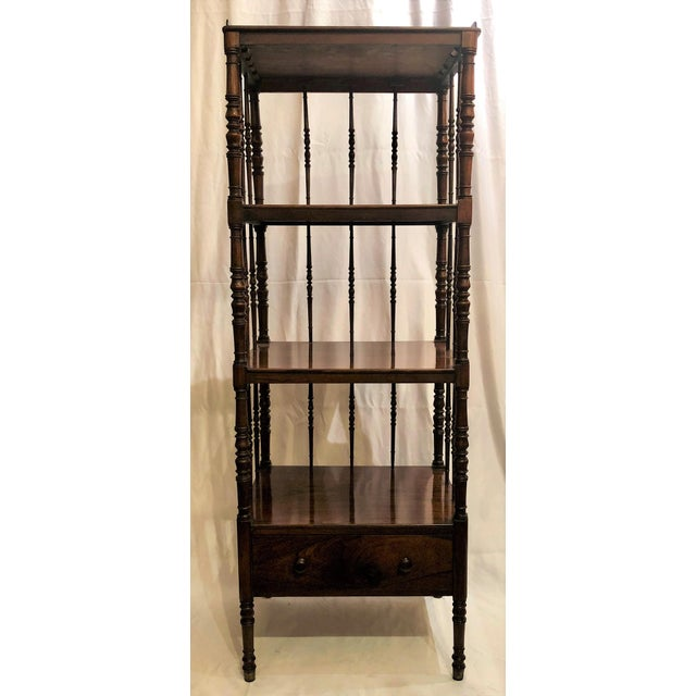 Antique English Rosewood 4 Tier Etagere, Circa 1850. For Sale In New Orleans - Image 6 of 6