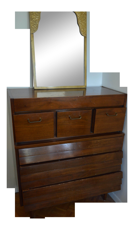 Vintage Mid Century 6 Drawer Dresser