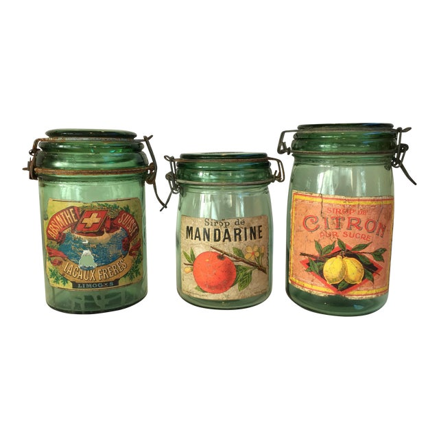 1930s French Canning Jars - Set of 3 - Image 1 of 6