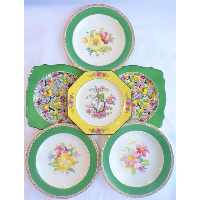Ceramic (Final Markdown) 930's Crown Ducal Ware Chintz Plates - Set of 6 For Sale - Image 7 of 13