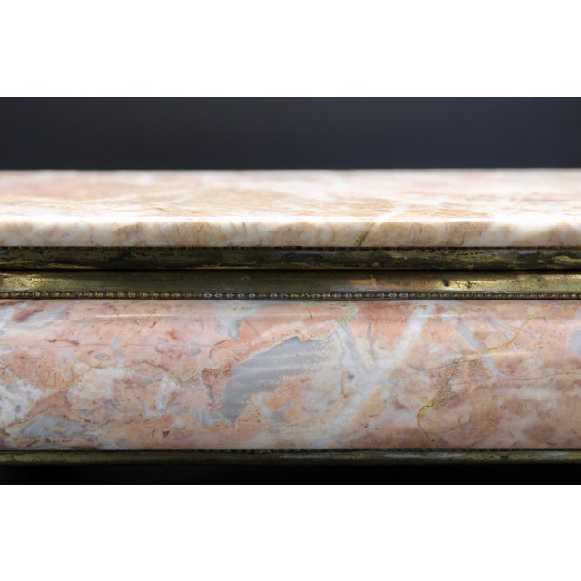 Mid-20th Century Monumental Footed Marble Box For Sale - Image 10 of 12