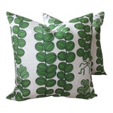 Image of Contemporary Svenskt Tenn for Josef Frank Emerald Green Celotocaulis Pillows - a Pair For Sale
