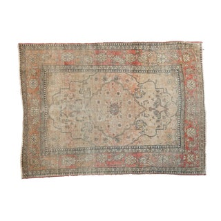"Antique Kerman Square Rug - 2'11"" X 4'"