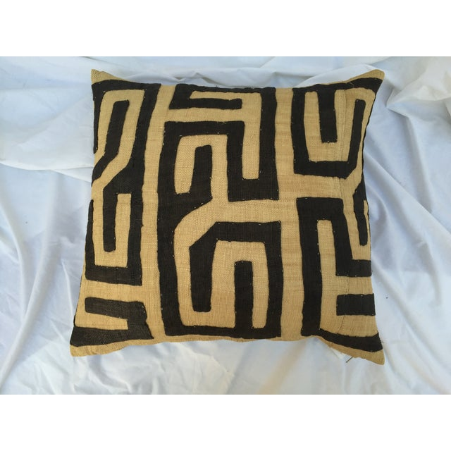 African African Kuba Maze Pillow For Sale - Image 3 of 5