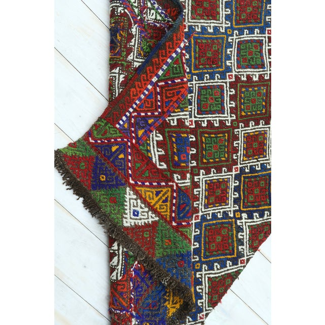 "Vintage Anatolian Kilim Runner-2'11'x11'2"" For Sale - Image 12 of 13"